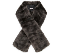 oversized faux fur scarf