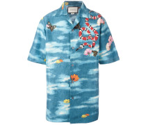 Hemd mit Print - men - Seide/Polyester - 50