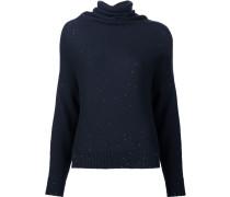 Pullover mit drapiertem Stehkragen