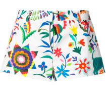 Florale Shorts mit kurzem Schnitt - women