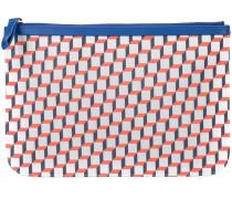 Clutch mit geometrischem Print - unisex
