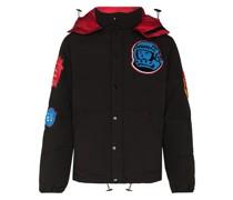 Gefütterte Jacke mit Logo-Patch