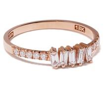 18kt rose gold diamond baguette ring