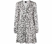 Faded leopard-print dress