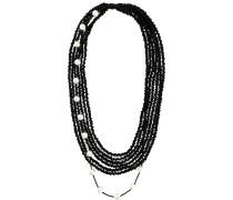 Mehrsträngige Halskette mit Perlen