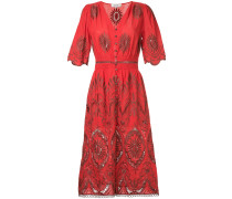 embroidered and cut-out detailed dress