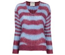 Locker gestrickter Pullover mit Streifen