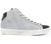 two tone hi-top sneakers