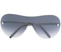 Oversized-Sonnenbrille mit verzierten Bügeln