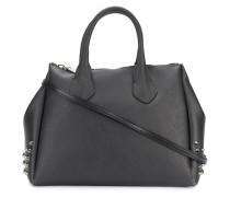 Strukturierte Handtasche mit Nieten
