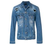 Camou Details denim jacket