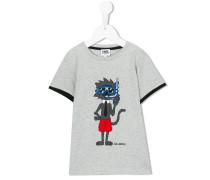 T-Shirt mit Katzen-Motiv - kids - Baumwolle - 4