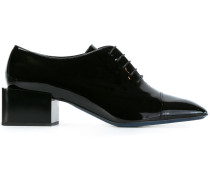 square toe lace-up shoes