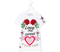 T-Shirt mit 'Love me sweet'-Print