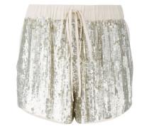 drawstring sequin shorts - women - Viskose/PVC