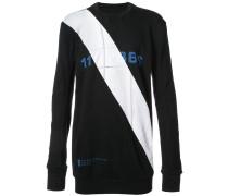 Sweatshirt mit diagonalem Streifen