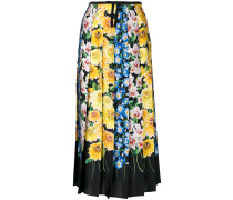 florage print pleated skirt