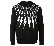 lightning bolt hoodie - men - Lyocell - M