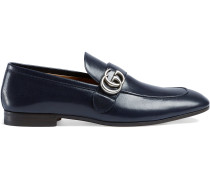 Leather loafer with GG