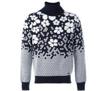 Pullover mit floralen Verzierungen