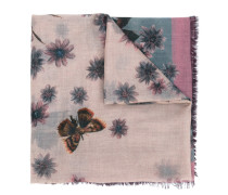 - Schal mit Blumen-Print - women - Seide/Kaschmir