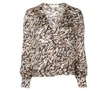 Bluse mit Tiger-Print
