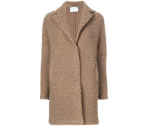 textured single breasted coat