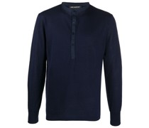 Henley-Pullover im Layering-Look