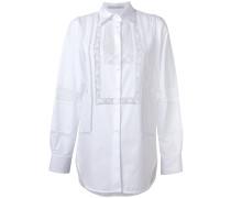 Hemd mit Spitzeneinsatz - women - Baumwolle - 38