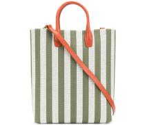striped shopper tote