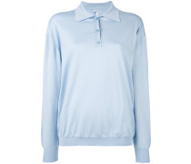 Pullover mit Poloshirt-Kragen - women
