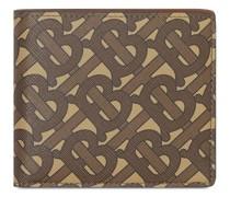 Portemonnaie mit Monogramm-Print