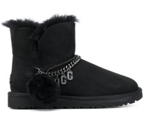 fur trim ankle boots