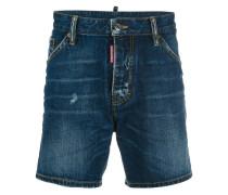 stonewash effect denim shorts