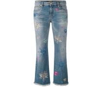 Cropped-Jeans mit Farbeffekt - women