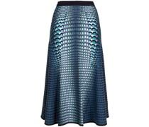 patterned-intarsia knit skirt