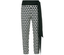 triangle print cropped trousers