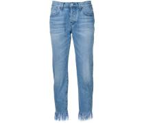 - Ausgefranste Cropped-Jeans - women - Baumwolle