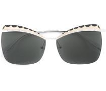 Cat-Eye-Sonnenbrille mit Verzierungen