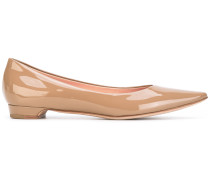 Spitze Lackleder-Ballerinas
