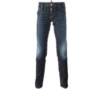 'Slim' Jeans mit Zierkette