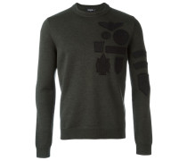 Pullover mit Logo-Patches