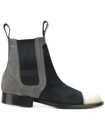 Chelsea-Boots in Colour-Block-Optik