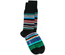 striped socks - men - Baumwolle/Nylon/Elastan