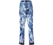 nature print cropped trousers