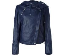 hooded biker jacket