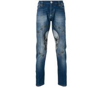 Jeans mit Totenkopf-Verzierung - men