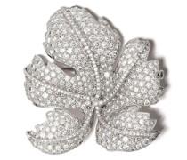 18kt Weißgoldbrosche mit Diamanten