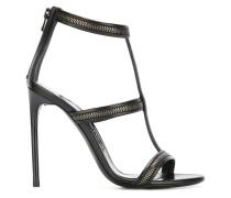 Sandalen mit Reißverschluss-Details - women
