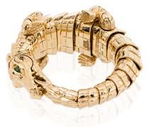 18kt Gelbgoldring im Krokodil-Design